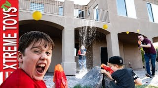 Ethan and Cole Ride Along! Follow Sneak Attack Squad Nerf Battle Vs Parents!