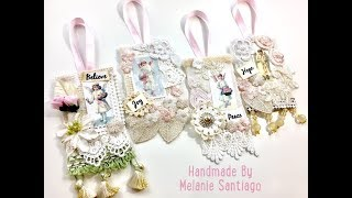 Live, DIY Christmas Ornaments & Decor / Shabby Chic Tags Ornaments
