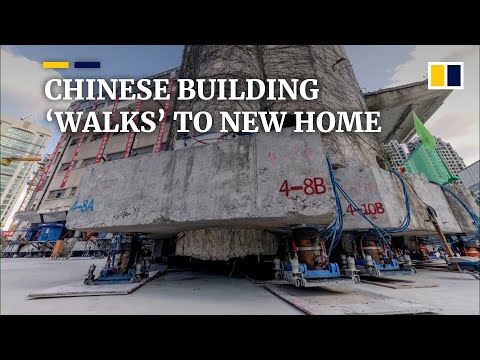Massive Building Walks Down the Streets of China