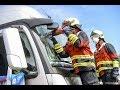 RETTmobil 2019: Nagelneuer Mercedes-Benz LKW Bei Großübung Der Feuerwehr Fulda Zerschnitten