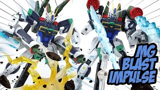 Fighters are combined to Gundam - MG Blast Impluse Gundam ASMR Speed Build Review