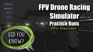 FPV Drone Racing Practice with Commentary - Acro Mode - FPV Freerider Drone Racing Simulator