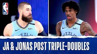 Ja Morant & Jonas Valanciunas Post Triple-Doubles In Grizzlies Win Over Bucks!