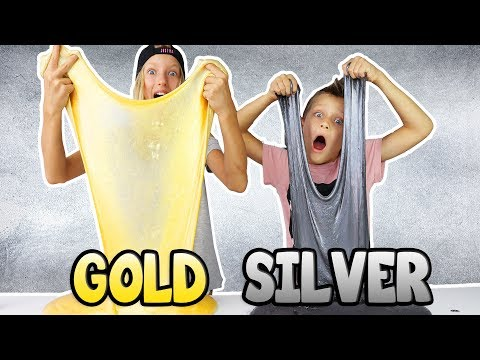 METALLIC SLIME!!! GOLD vs SILVER