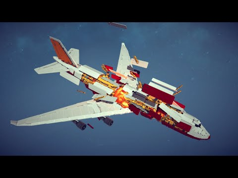 Boeing 747 Explodes Midair and Disintegrates Slowly   Besiege