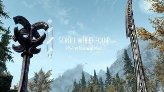Мод на Skyrim   ScrollWheelEquip / Быстрое переключение оружия