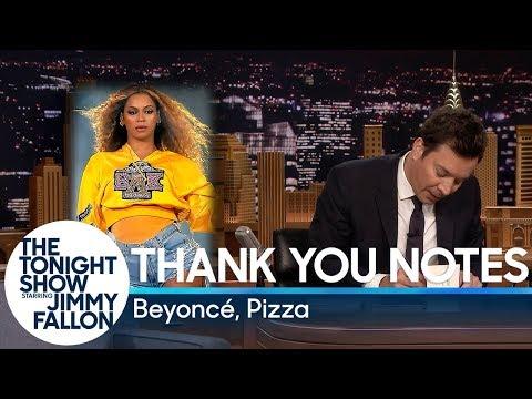 Thank You Notes: Beyoncé, Pizza