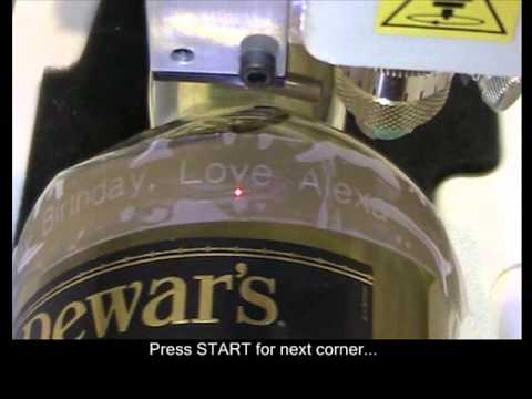 M40G engraving a Whiskey Bottle and Paint Fill