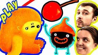 БолтушкА и ПРоХоДиМеЦ Помогают Странному ЧУЧЕЛУ поймать Вишенку! #195 Игра для Детей - Чучел