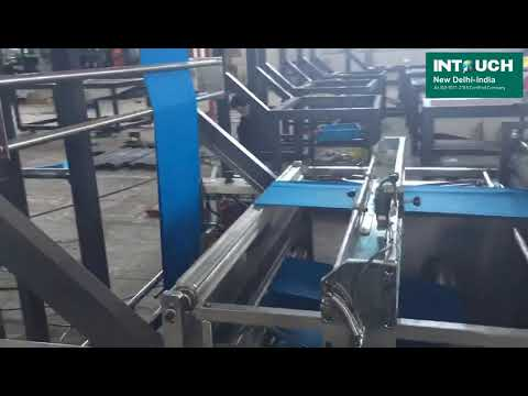 Laminated Box Bag Making with Online Automatic Handle Attach Machine