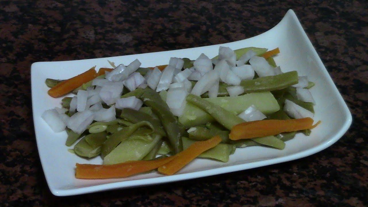 ENSALADA DE JUDIAS VERDES | recetas de cocina faciles rapidas y economicas de hacer - comidas ricas
