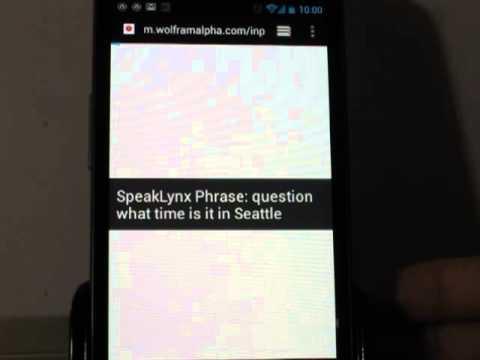 Video of SpeakLynx