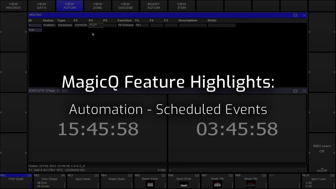 Automation Scheduled Events