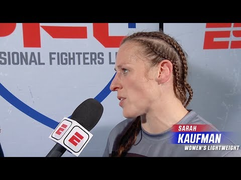 Sarah Kaufman On Earning a First Round Submission in her PFL Debut | PFL 1 2019 Post Fight Interview