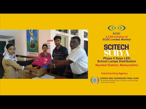 Scitech Surya Phase II Solar LED School Lamps Distribution   Nanded District