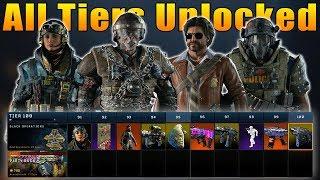 Black Ops 4: Operation Grand Heist All 100 Tiers Unlocked (New Black Market)