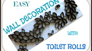 Homemade Wall Art Made With Toilet Rolls| Reuse Toilet Rolls For Wall Decoration | ItsSupriyasLife