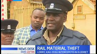 Lorry with stolen rail material intercepted in Eldoret