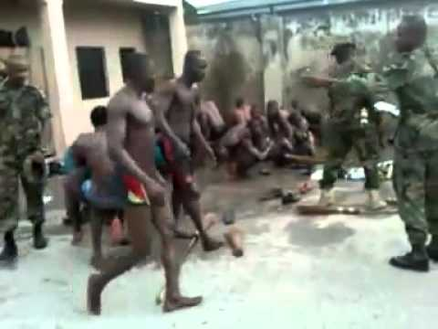 Nigerian Army Abusing Civilians