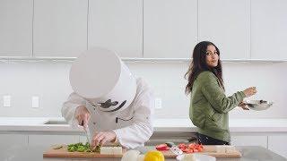 Vidya Vox Teaches Marshmello How To Cook Paneer Tikka | Cooking With Marshmello