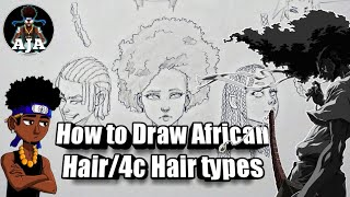 How To Draw African American Hair/4C Hair Types.