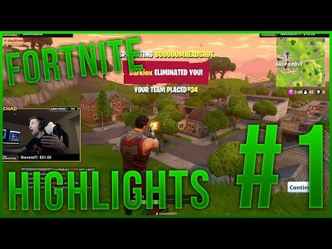 Fortnite  Battle Royale Insane Moments #1