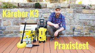 Praxistest Kärcher K3 Hochdruckreiniger /Terrassendielen reinigen / Steinplatten reinigen / DIY