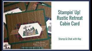 How To Make A Masculine Card With Rustic Retreat Colored With Stampin Blends