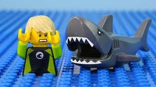 LEGO City Shark Attack STOP MOTION LEGO Shark Attack Brick Building | LEGO City | By Billy Bricks