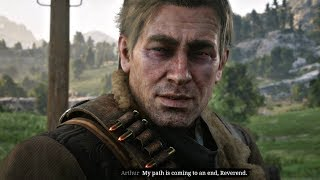 Red Dead Redemption 2 - Arthur Reveals He's Dying Cutscene (PS4 Pro)