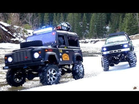 RC ADVENTURES - Gelände II 4x4 Defender D90 & Toyota Hilux Trail Finder 2 - Icy Scale RC Trucks