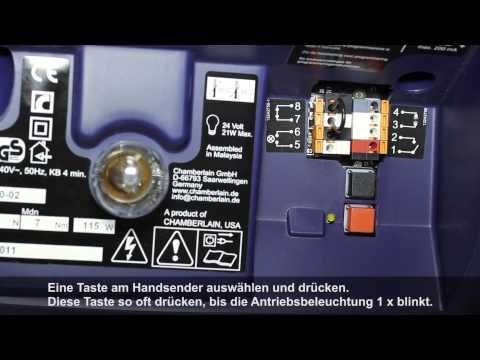 Unversal Transmitter Programming with Chamberlain LiftMaster MotorLift Powerdrive Garage Door Opener