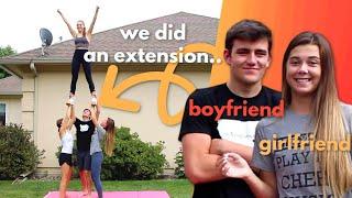 Boyfriend Tries Cheerleading: Stunting Edition
