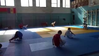 тренировка 6-ти летних детей по дзюдо