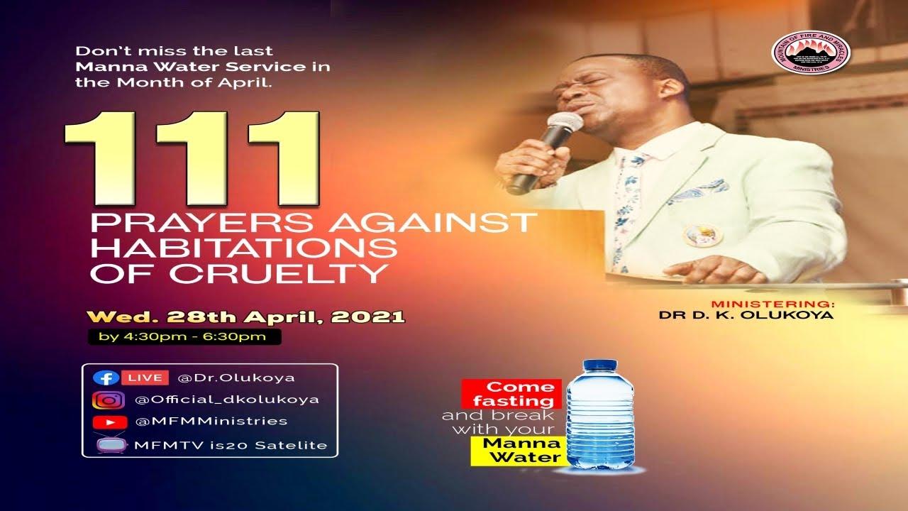 MFM Manna Water 28 April 2021 Live with Pastor D. K. Olukoya