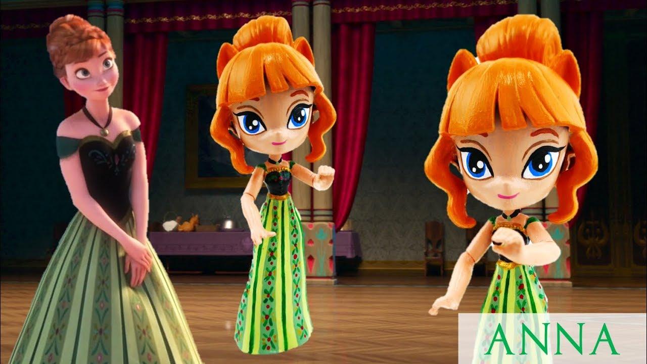 Disney Frozen Coronation Anna Custom Doll My Little Pony Equestria Minis Tutorial