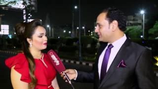 رشا الخطيب مع الاعلامي محمد سعد في حفل ملكة جمال العرب