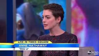 Anne Hathaway on Good Morning America! -- (April 9, 2014)