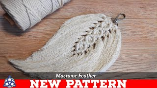 DIY Macrame Feathers Tutorial | NEW PATTERN | Keychain | Wall Hanging