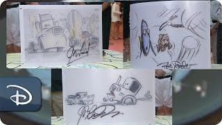 Pixar Wizards Signatures At Disney's Art Of Animation Resort | Walt Disney World
