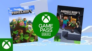 Xbox Get Minecraft with Game Pass for PC this November! anuncio