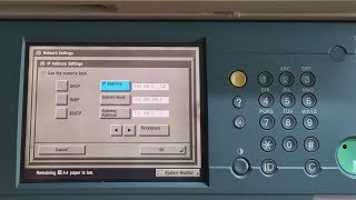 how to set IP address in Canon network copier