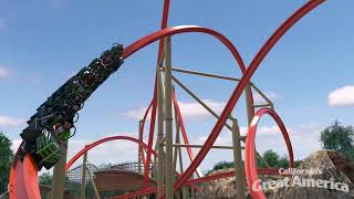RailBlazer RMC Raptor Off-Ride Rendering - California's Great America 2018