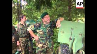 Bosnia - Moslem-Croat Troops Capture Arms Depot