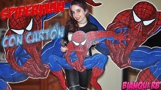 SPIDER-MAN DIBUJADO RECICLANDO CARTÓN, PASO A PASO - How To Draw Spiderman |Creatividad Bianqui RB|