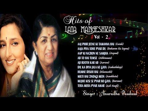 Download Evergreen Hits of Lata Mangeshkar | Hits of Anuradha Paudwal | Old Songs | Jukebox 2 Mp4 HD Video and MP3