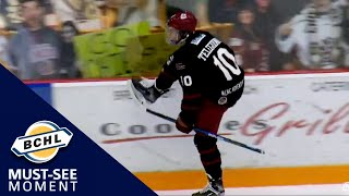 Must See Moment: Sasha Teleguine shows off his speed, nifty hands on a goal