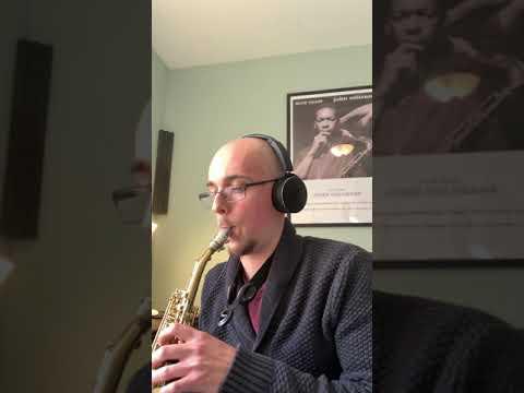Transcription of pianist Keith Jarrett on Bemsha Swing (Monk), played on soprano saxophone - 2020