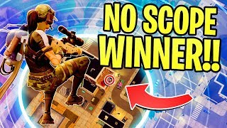 INSANE MAX HEIGHT *NO SCOPE WIN* IN FORTNITE BATTLE ROYALE!!!