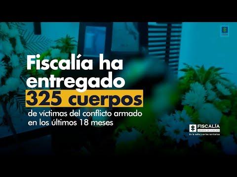 Fiscal Barbosa: Fiscalía ha entregado 325 cuerpos de víctimas del conflicto en 18 meses